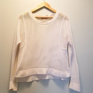 MICHAEL KORS White Knit Crew Neck Sweater